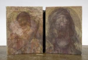 "Word Became Flesh, 7 1/2""x52"", inkjet, silkscreen, and monotype on BFK, 2014, nfs"